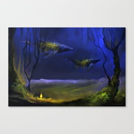 In The Light You Follow Me Canvas Print