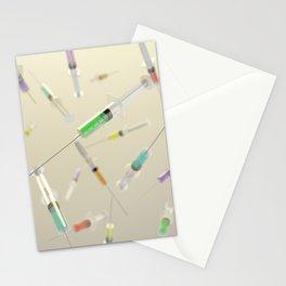 Syringe frenzy Stationery Cards