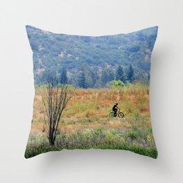bike in beauty Throw Pillow