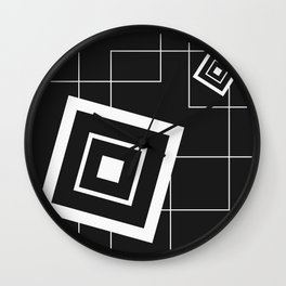 """From Big to Small"" abstract composition (inversion) Wall Clock"