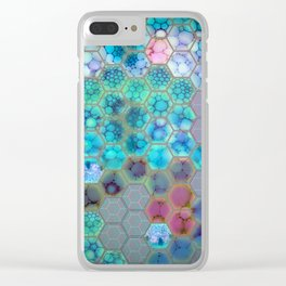 Onion cell hexagons Clear iPhone Case