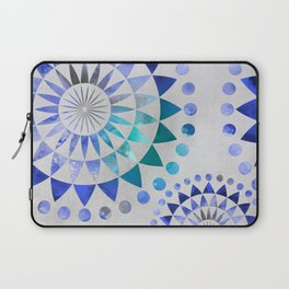 Mandala Pattern blue and turquoise Laptop Sleeve