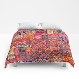 -A35- Traditional Colored Moroccan Artwork. Comforters