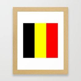 Drapeau Belgique Framed Art Print