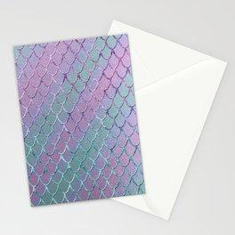 Mermaid Princess Glitter Scales Glam #1 #shiny #stripes #decor #art #society6 Stationery Cards