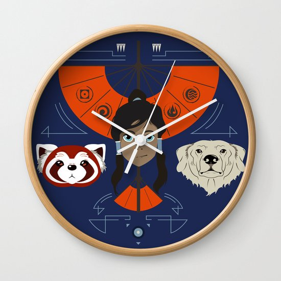 Spirited Avatar Wall Clock