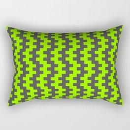 Stripe Dancer Green Rectangular Pillow