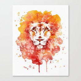 PRIDE (Water colour Lion) Canvas Print