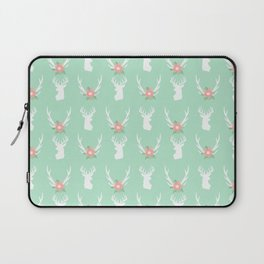 Deer antlers deer head silhouette cute modern minimal nature inspired nursery decor Laptop Sleeve
