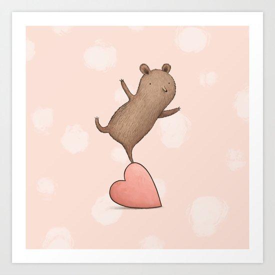 Bear on Heart by sophiecorrigan