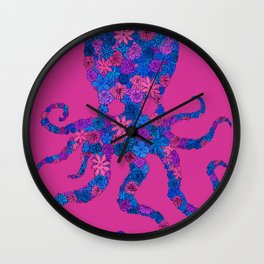 Octo Bloom Wall Clock
