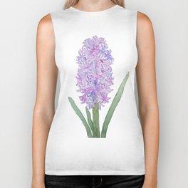 purple pink hyacinth watercolor Biker Tank