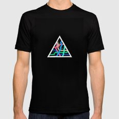 Lonely Inverted Triangle MEDIUM Mens Fitted Tee Black