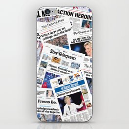 Hillary 2016 Historic Front Pages iPhone Skin