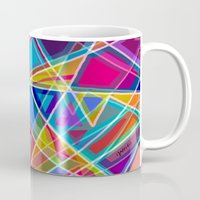 stained glass Mugs featuring Stained Glass by gretzky