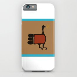Turkey Petroglyph with Turquoise  iPhone Case