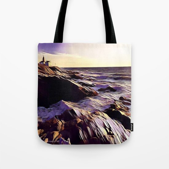 Beavetail Lighthouse, Jamestown RI Tote Bag