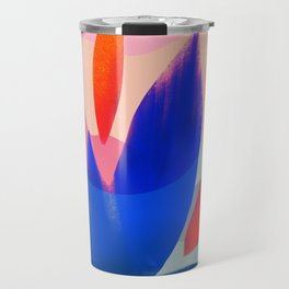 Shapes and Layers no.14 - leaves grid flames sun Travel Mug