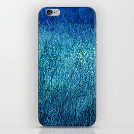 Night in the flower meadow iPhone Skin