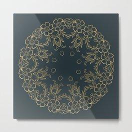 Gold Mandala 14 Metal Print