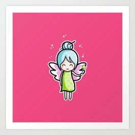 Kawaii Cute Fairy Art Print