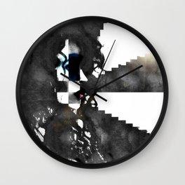Erika in Checkered Stairwells. Wall Clock