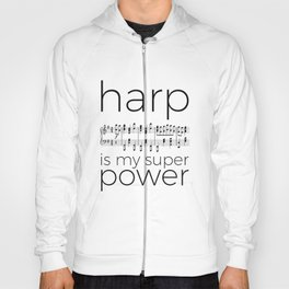 Harp is my super power (2) (white) Hoody