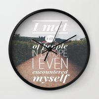 europe Wall Clocks featuring EUROPE by REASONandRHYME