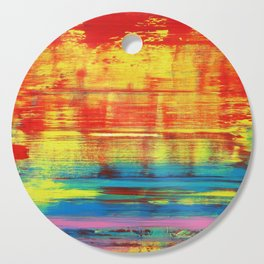 Sunny Sunset, Colorful Abstract Art Cutting Board
