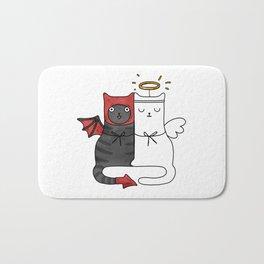 Angel & Demon Cats Bath Mat