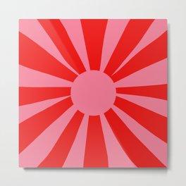 Pink Red Summer Sun Metal Print