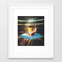 ginger Framed Art Prints featuring ginger by Mirawek Wolff