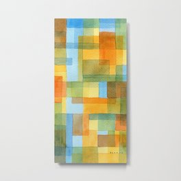 City by a river -watercolour after Paul Klee Metal Print