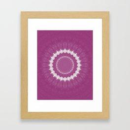Amethyst & White Gemstone Liquid White Smoke Kaleidoscope 2 Digital Painting Framed Art Print