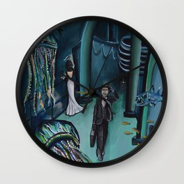 Phantoms Beneath Us Wall Clock