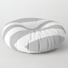 Quick Silver -  solid color - white stripes pattern Floor Pillow