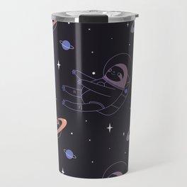 Astro sloth and planet sloth pattern Travel Mug