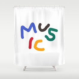 Moi Colorful Music Shower Curtain