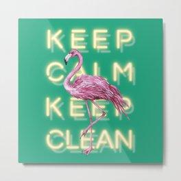 Mr. Flamingo Metal Print