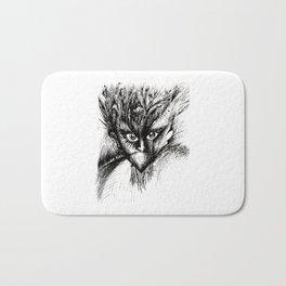 Owl Girl Eyes Bath Mat