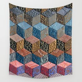 Tumbling Blocks #3 Wall Tapestry