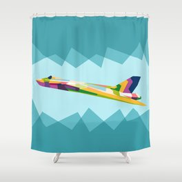 Colorful Jets Shower Curtain
