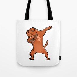 Dabbing Dogue De Bordeaux Dog Dab Dance Tote Bag