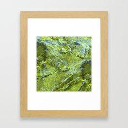 GREENY ROCKS Framed Art Print