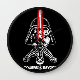 """Vader """"Bones"""" Rodriguez White Letters Wall Clock"""