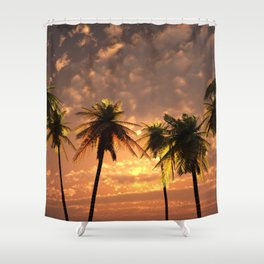 Palm Tree Photography Shower Curtain