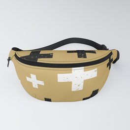 Gold mod plus signs Fanny Pack