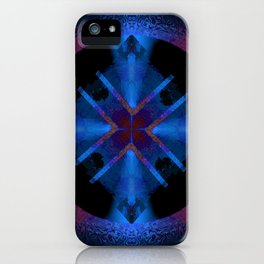 Spinning Wheel Hubcap in Blue iPhone Case