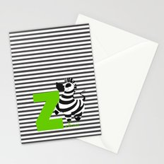 z for zebra Stationery Cards