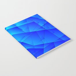 Bright sea pattern of heavenly and blue triangles and irregularly shaped lines. Notebook